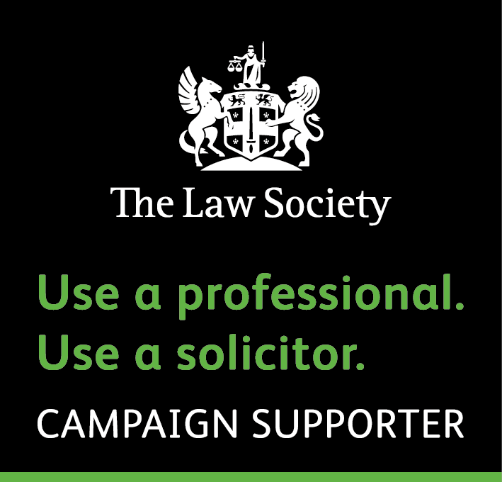 The Law Society: Use a proffessional. Use a solicitor. Campaign Supporter